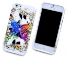 iPhone 5 Färgglad Fjärlil