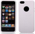 Cirklar Mjuk Silikon Vit iPhone 5