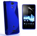 S-Line Blå Sony Xperia V Skal