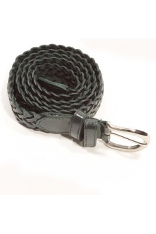 Plaited belt dark green