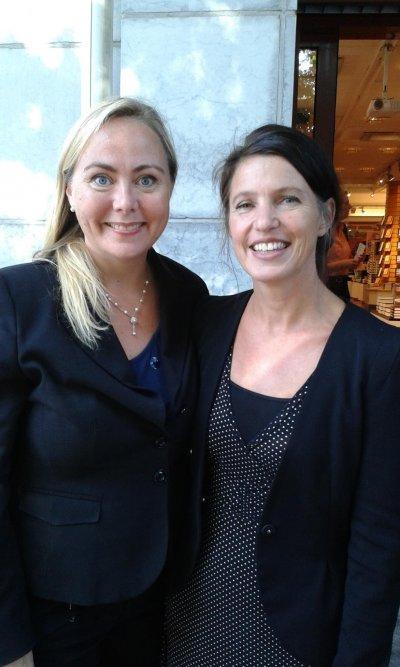 Anita Jacobson och Kristina Sandberg