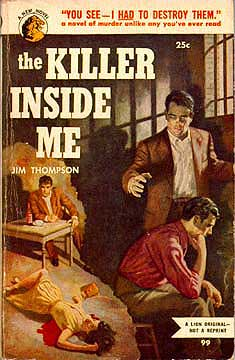 1950's cover of the original Lion Books edition of The Killer Inside Me by Jim Thompson
