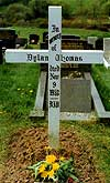 The grave of Dylan Thomas