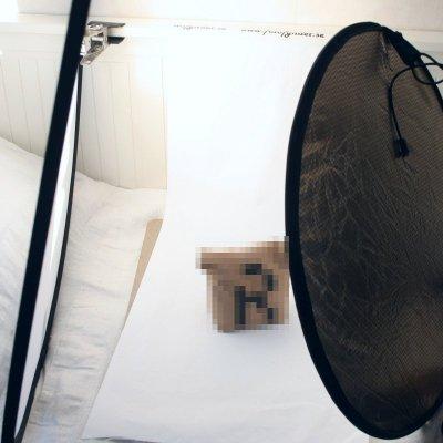 Produktfoto med två reflexskärmar