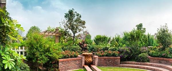 trädgård innergård