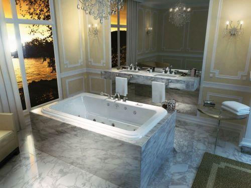 romerskt badkar i marmor