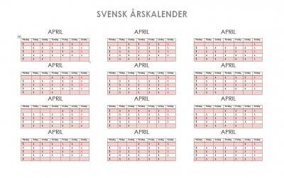 Svensk Årskalender