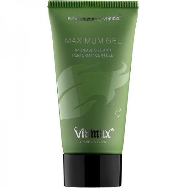 Viamax Maximum gel ger ökad blodflöde till penis.