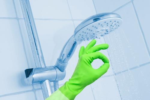 Rengöring av dusch