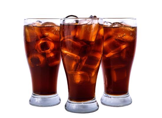 Glas med cola