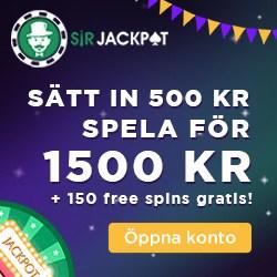 Sir Jackpot valkomsterbjudande