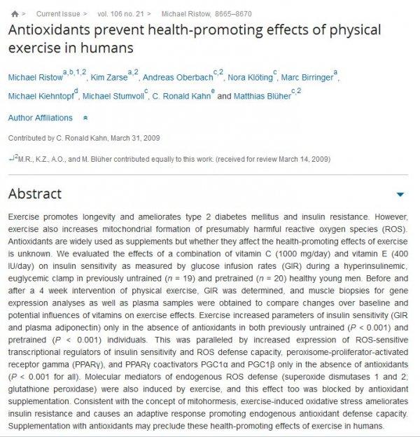 Skadliga effekter av antioxidanter