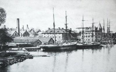 Gustavsbergs hamn år 1903