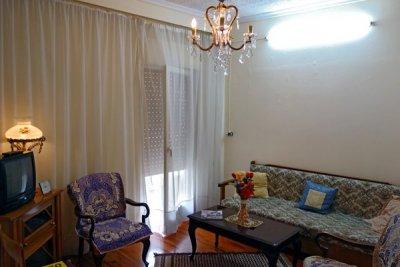 Vardagsrummet, nya möbleringen...