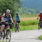 På cykelresa i vacker miljö