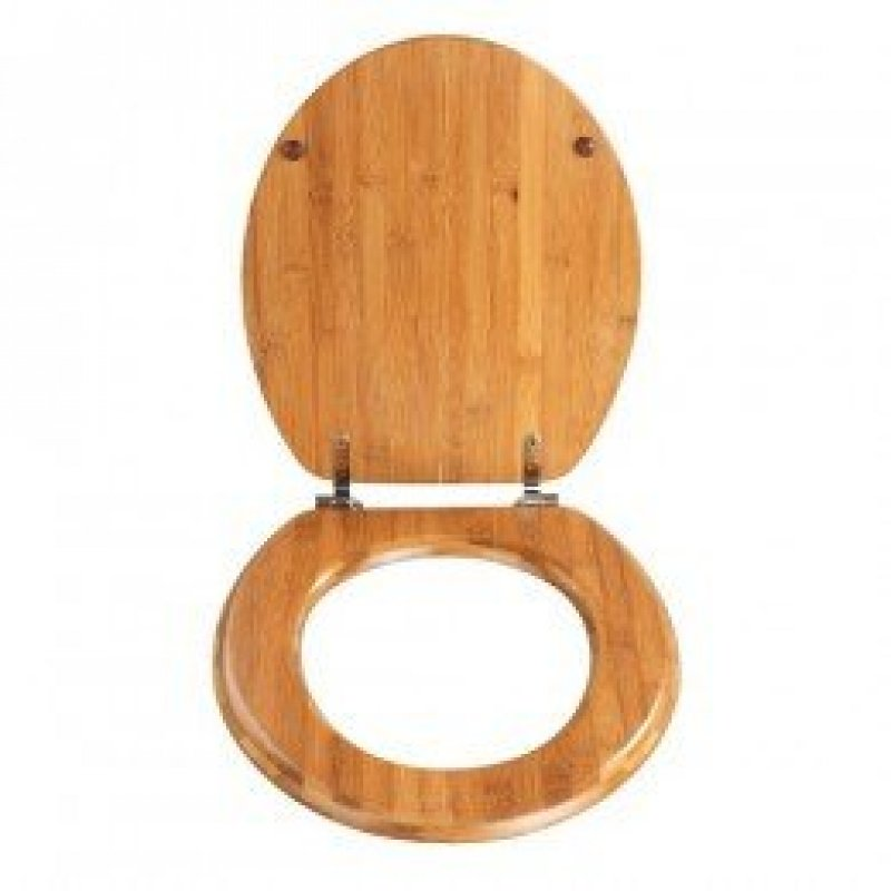 Wenko Dark Bamboo Wood Toilet Seat