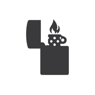 Lighter with fire-icon