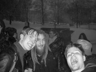 Snöstorm och kö