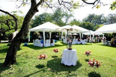 Bröllopsbilder i trädgården | Wedding day Photo