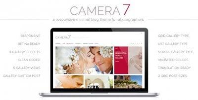 Camera 7 wordpress tema fotograf