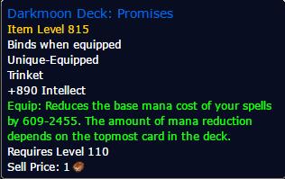 How Do I Craft Darkmoon Deck Promises