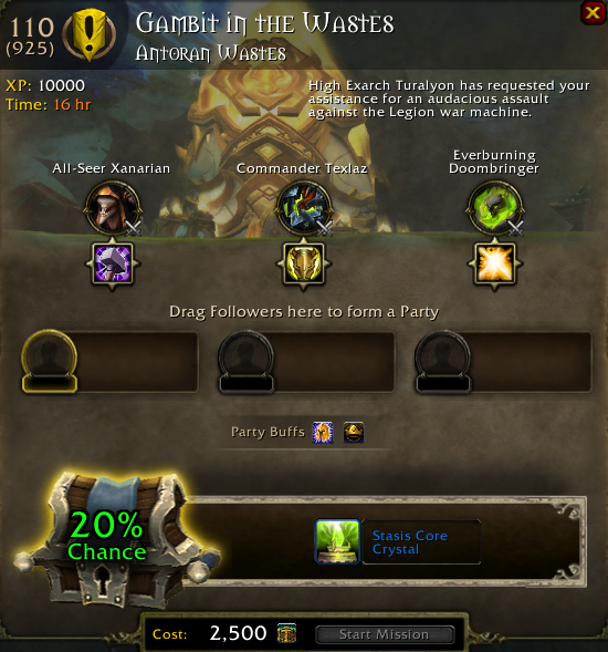 how to hire champions at order hall wow