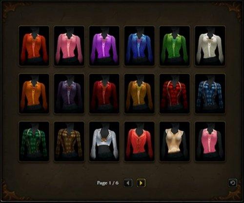 Wow shirt slot items