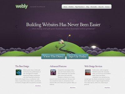Webly wordpress tema företag