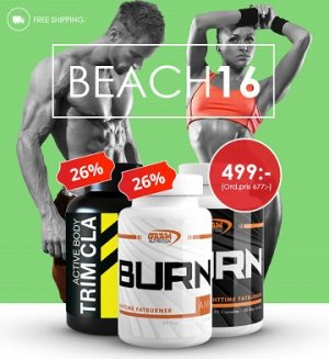Beach 2016 paket hos Proteinbolaget