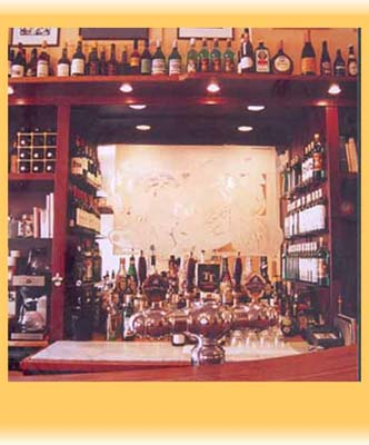 Absinths välfyllda bar