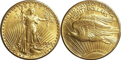 Amerikansk Double Eagle 20 Dollar