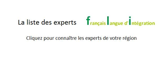 La liste des experts Français Langue d'Intégration