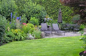 Enjoy a break in the gardens at A Harbourview Vancouver Bed and Breakfast