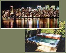 Vancouver bed and breakfast: city views