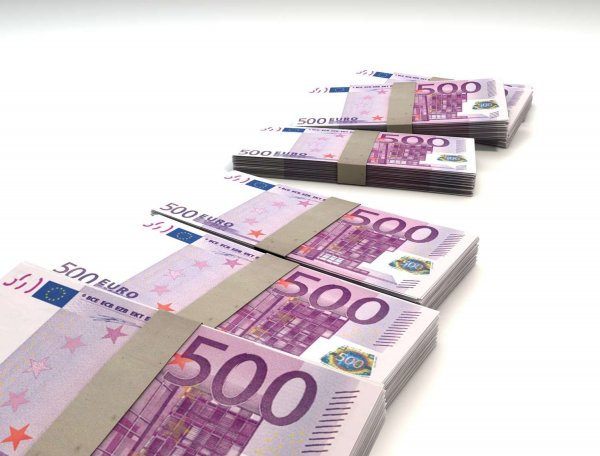 Bild på euro-sedlar
