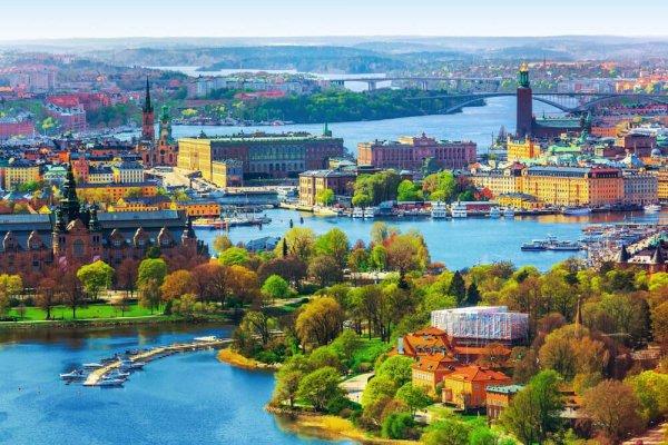 Vy över Stockholm från Kaknästornet