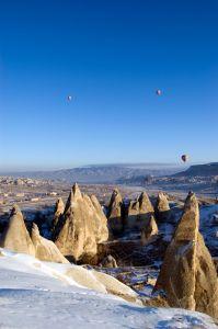 Luftballonger över Kappadokien. Vi ger dig allt om resor till Turkiet, Sista minuten till Turkiet, billiga resor till Turkiet, flyg till Turkiet