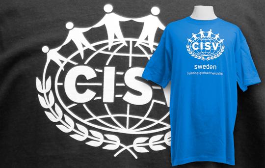 Screentryckta tshirts till CISV