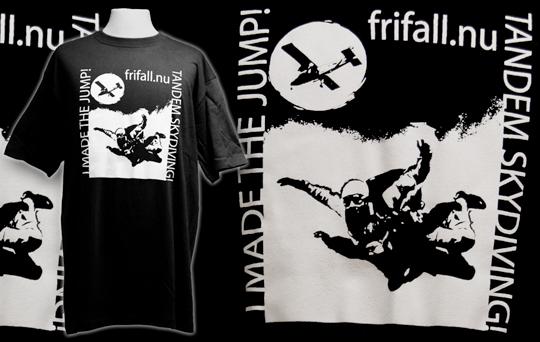 Screen tryckta frifall.nu t-shirts
