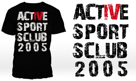 Screentryckta tshirts till Active sports club