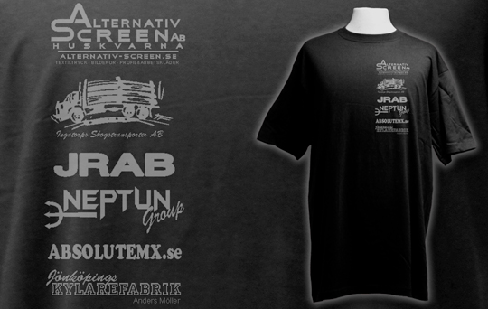 Screentryck på tshirts till Neptun Racing