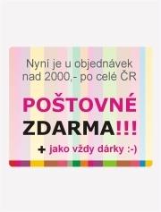 U objednávek nad 2000Kč, po celé ČR poštovné zdarma