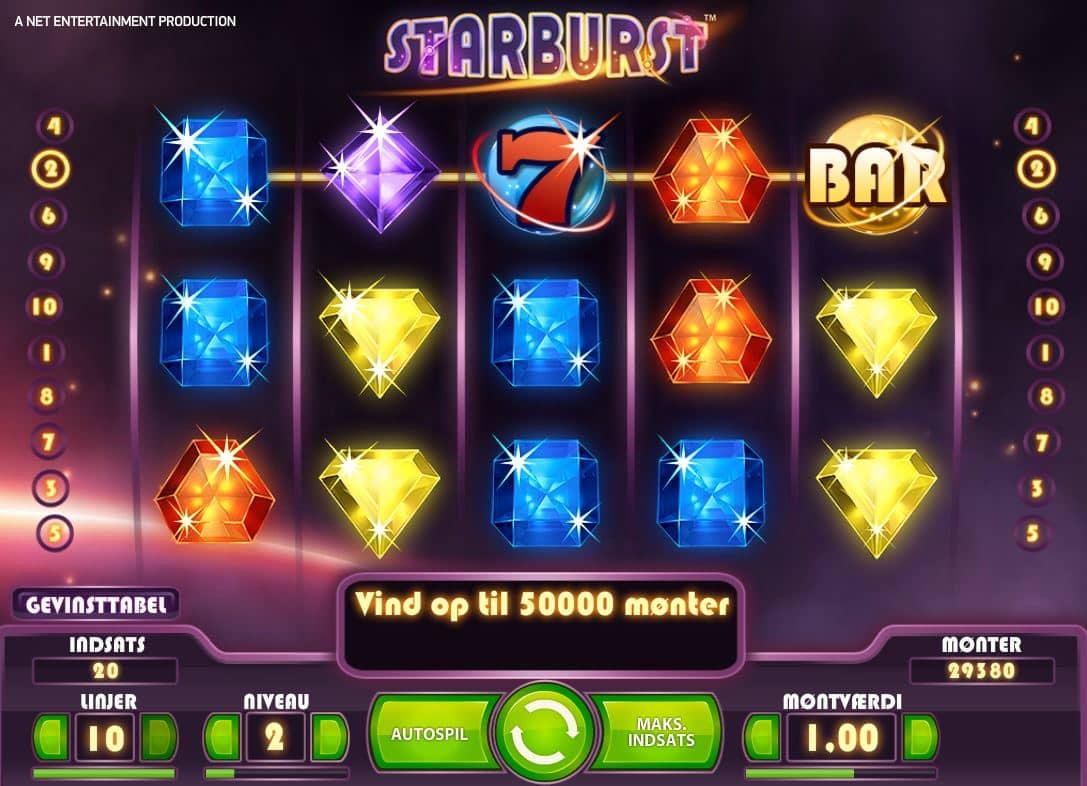 Starburst-spilleautomat arkadespil.com