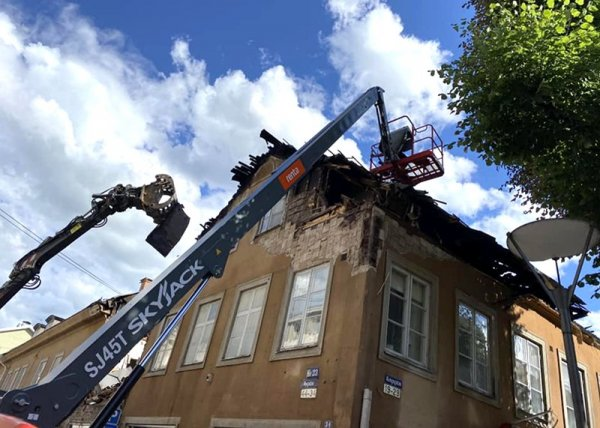 Här utför vi brandskadesanering på plats i centrala Örebro.