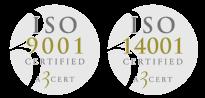 Vi har två ISO certifieringar som styrket vår kvalitet och kompetens inom asfalt i Enköping.
