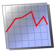 Diagram faldende pris