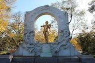 Guldstatuen af Johann Strauss