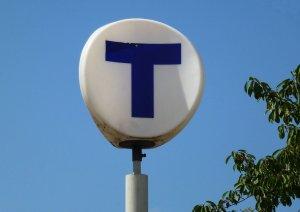 tunnelbana, skylt