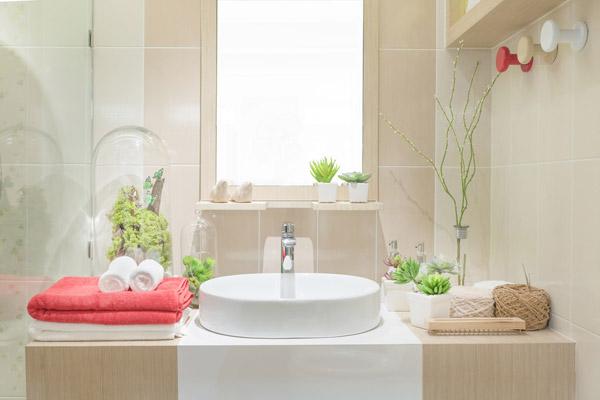 spakänsla i badrummet hemma