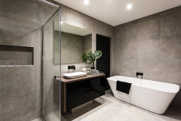 modernt badrum i Stockholm